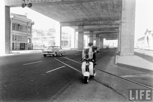 Motor Scooter Squabble in California, ca. 1960s (12)