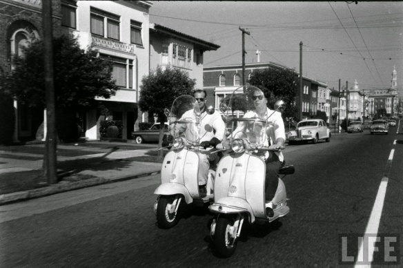 Motor Scooter Squabble in California, ca. 1960s (13)