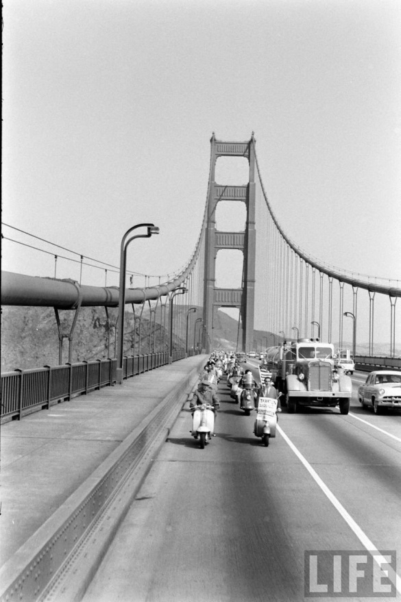 Motor Scooter Squabble in California, ca. 1960s (3)
