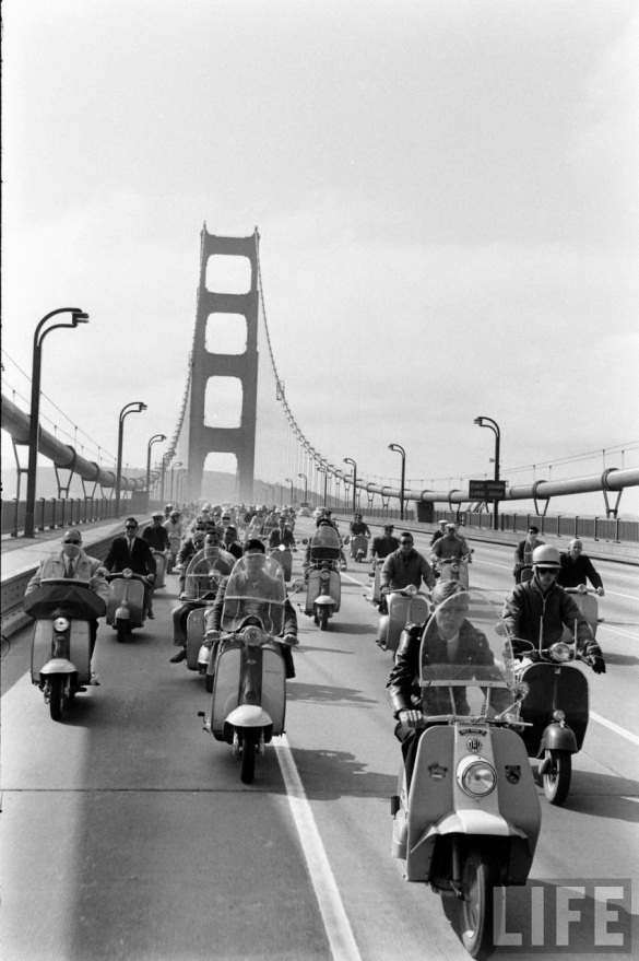 Motor Scooter Squabble in California, ca. 1960s (4)