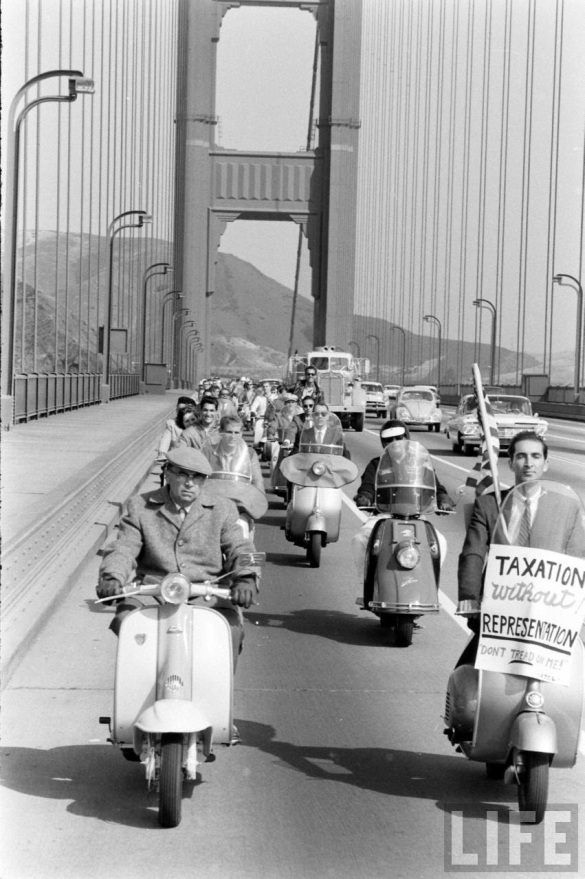 Motor Scooter Squabble in California, ca. 1960s (5)