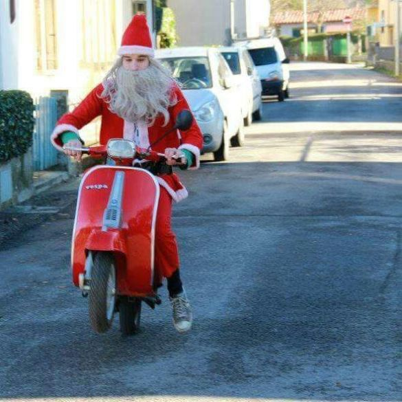 Image result for vespa in a christmas parade