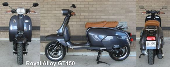 Royal Alloy GT150 Scooter